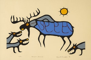 Artwork by Norval Morrisseau, Nature's Balance