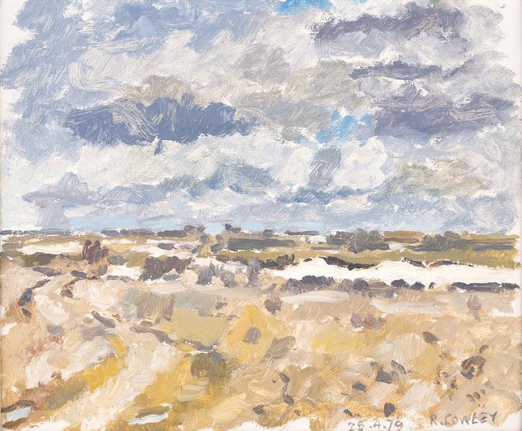 Artwork by Reta Madeline Cowley,  Prairie Landscape (1979)