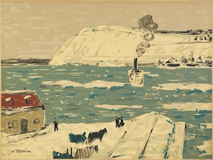 Artwork by James Wilson Morrice, The Ferry, Quebec