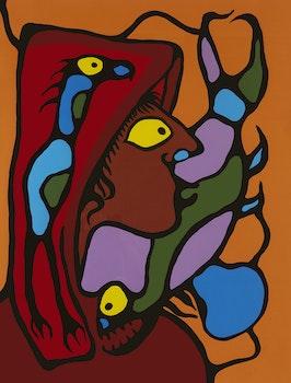 Artwork by Norval Morrisseau, Native Astrul Image