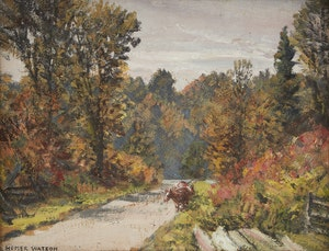 Artwork by Homer Ransford Watson, Rural Woodland Scene