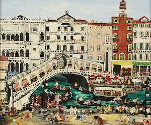 Artwork by Monica H.  Horseman, Rialto Bridge, Venice