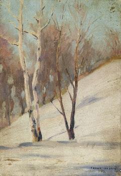 Artwork by Francesco Iacurto, Winter Trees