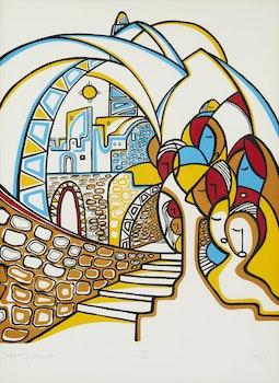 Artwork by Daphne Odjig, Spirit of Jerusalem