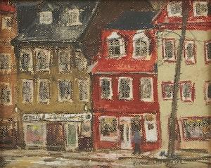 Artwork by Horace Champagne, St. Paul St., Québec