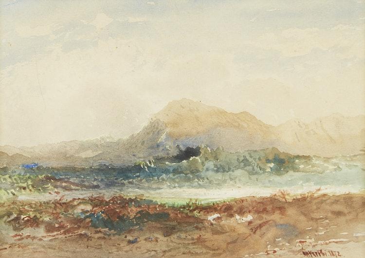 Artwork by Otto Reinhold Jacobi,  Shoreline Landscape