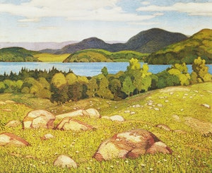 Artwork by Alfred Joseph Casson, Autumn Afternoon; Haliburton; Late Flurry