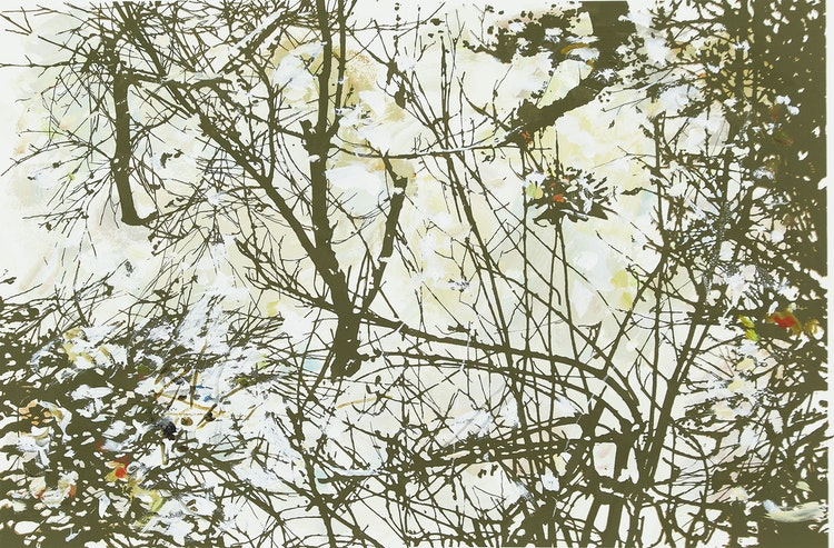 Artwork by Gordon Appelbe Smith,  Winter Garden