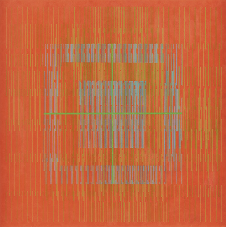 """Artwork by Gordon Appelbe Smith,  Untitled Abstraction (""""Op Art"""")"""