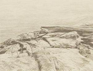 Artwork by Gordon Appelbe Smith, Rocky Shoreline