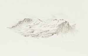 Artwork by Gordon Appelbe Smith, Mountain Landscape