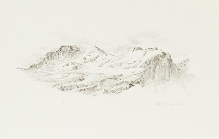 Artwork by Gordon Appelbe Smith,  Mountain Landscape