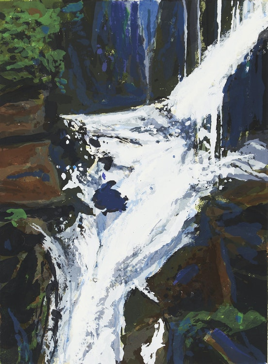 Artwork by Gordon Appelbe Smith,  Shannon Falls