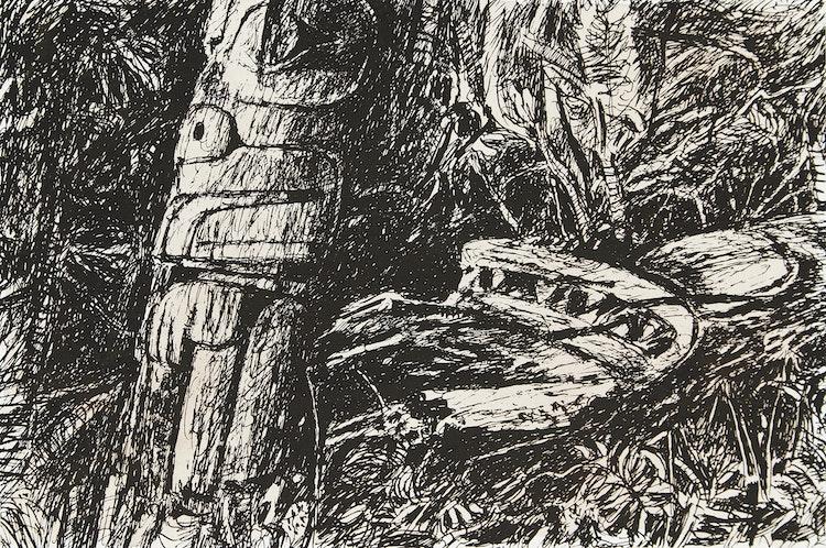Artwork by Gordon Appelbe Smith,  Haida Remnents (Sic)