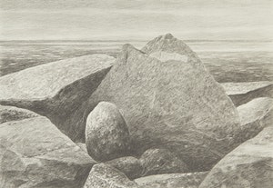 Artwork by Gordon Appelbe Smith, Rocky Landscape