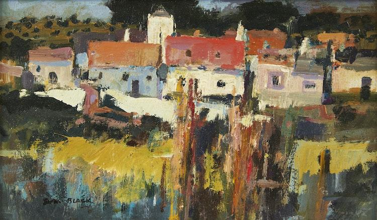 Artwork by Sam Black,  Old Village