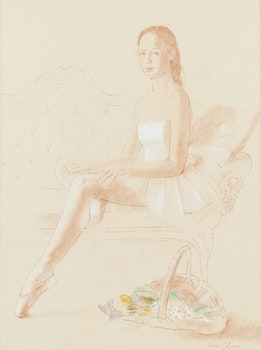 Artwork by Fred Ross, Young Dancer in White
