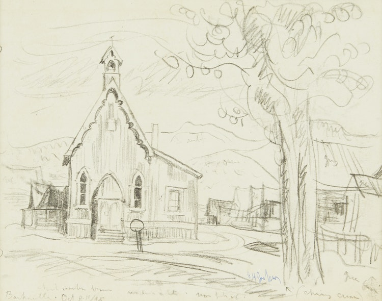 The Church of St  Saviour's in Barkerville, B C , October 8