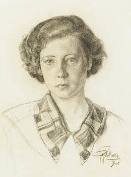 Artwork by Jean-Philippe Dallaire, Portrait de Jannine Lauzon