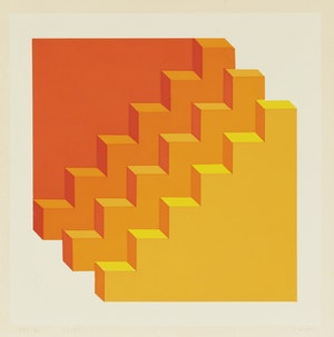 Artwork by Gordon Appelbe Smith, Two Untitled Abstractions