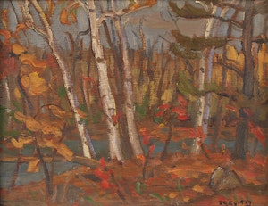 Artwork by Ralph Wallace Burton, At the Head of Bennett Lake, Ont., Perth District
