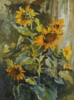 Artwork by Guttorn Otto, Sunflowers