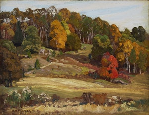 Artwork by Herbert Sidney Palmer, Autumn Hillside
