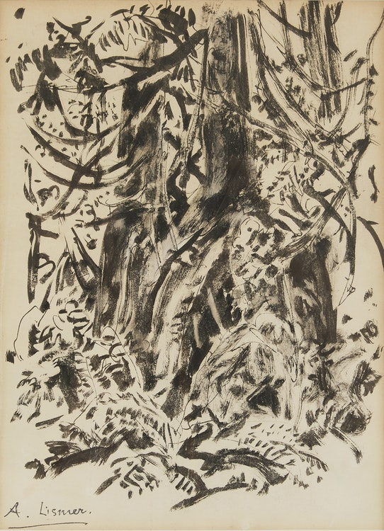 Artwork by Arthur Lismer,  Forest Interior