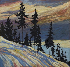 Artwork by Robert Francis Michael McInnis, Black Firs, Burnaby, B.C.