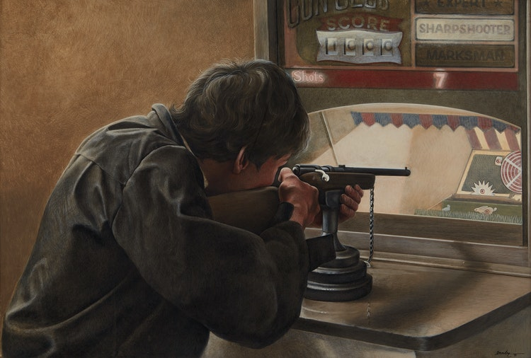 Artwork by Kenneth Danby,  Sharpshooter