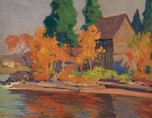 Artwork by John William Beatty, Autumn in Parry Sound District