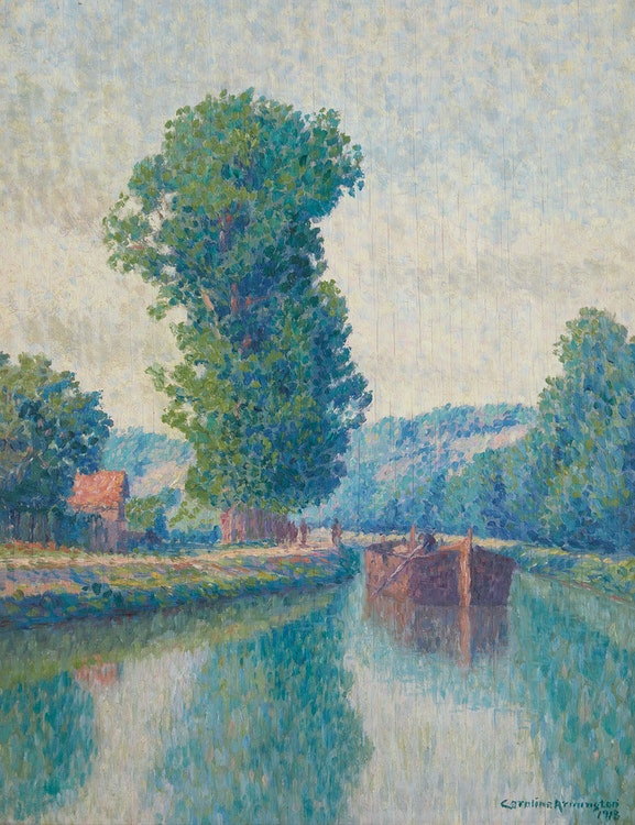 Artwork by Caroline Helena Armington,  Barge on the Canal