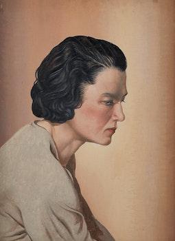 Artwork by Bertram Richard Brooker, Portrait of a Woman