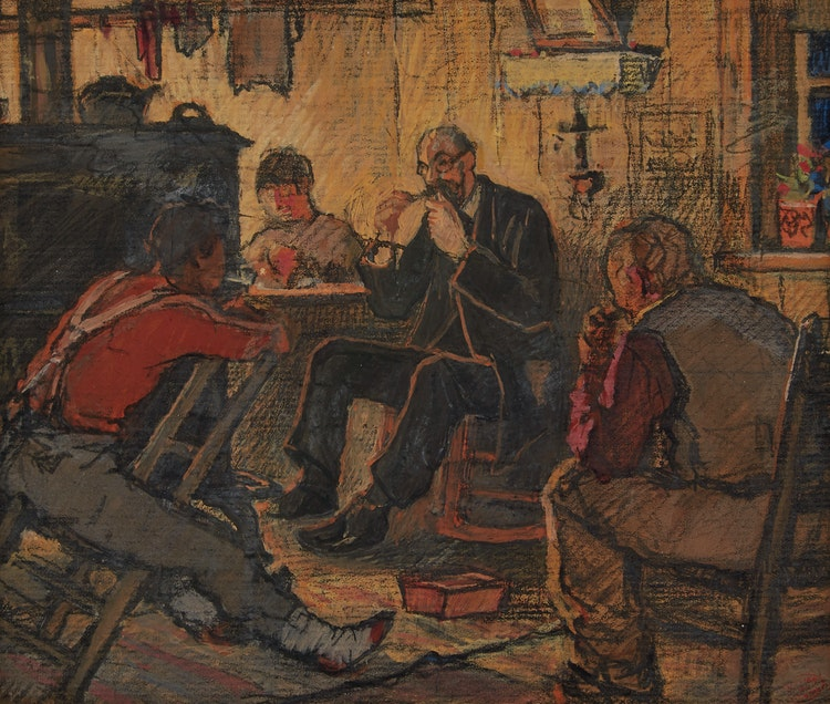 Artwork by Clarence Alphonse Gagnon,  The Doctor