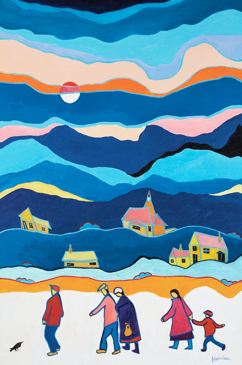 Artwork by Ted Harrison,  Bright Day