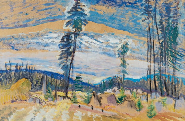 Artwork by Emily Carr,  Logged Land
