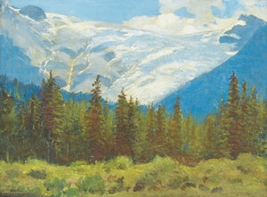 Artwork by Frederic Marlett Bell-Smith, Great Glacier of Selkirks