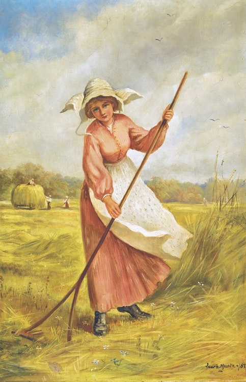 Artwork by Laura Adeline Lyall Muntz,  Woman in the Field