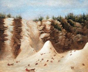 Artwork by Attributed to Joseph Légaré, The Frozen Ice Cone at Montmorency Falls