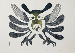 Artwork by Kenojuak Ashevak, Owl Spirit