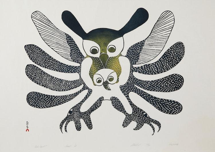 Artwork by Kenojuak Ashevak,  Owl Spirit