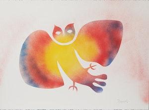 Artwork by Simon Brascoupe, Owl