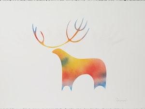 Artwork by Simon Brascoupe, Moose
