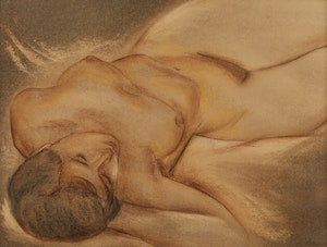 Artwork by Louis Muhlstock, Reclining Nude