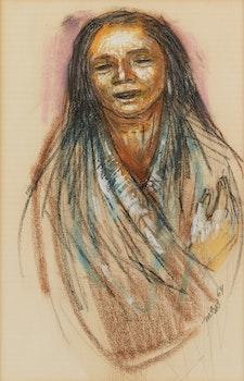 Artwork by Miller Gore Brittain, Portrait de jeune femme