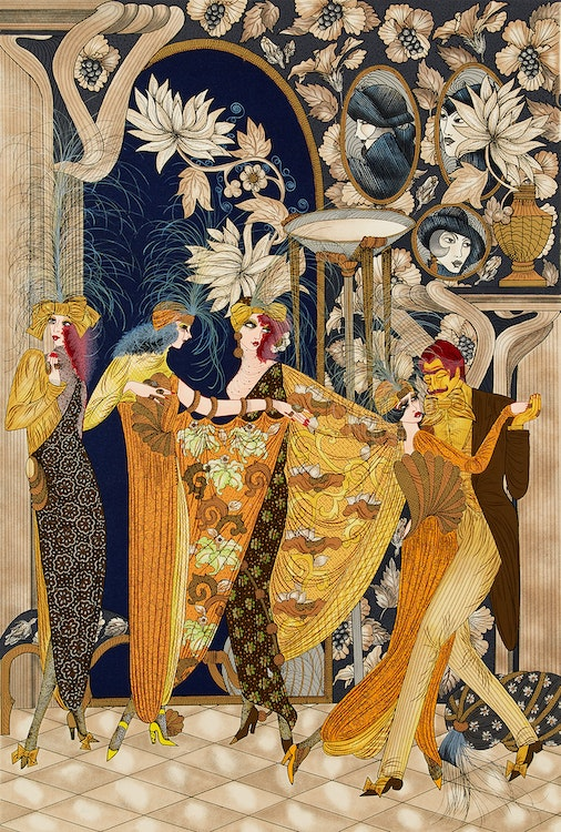 Artwork by  Unknown 20th Century Artist,  Art Nouveau Party Scene
