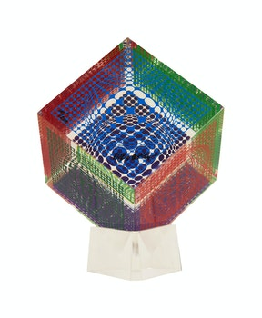 Artwork by Victor Vasarely, Cube