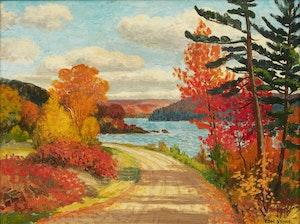 Artwork by Thomas Albert Stone, The Narrows, Lake of Bays