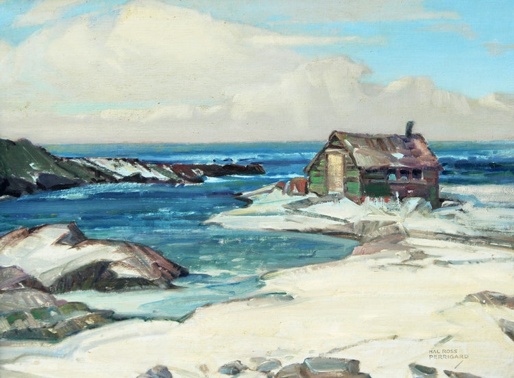 Artwork by Hal Ross Perrigard,  Winter by the Sea