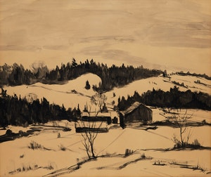 Artwork by Albert Jacques Franck, Winter, Shadowbrook Farm